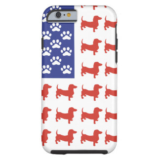 Patriotic Dachshund Doxie Tough iPhone 6 Case