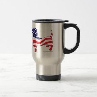 Patriotic Dachshund Stainless Steel Travel Mug