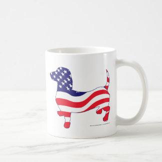 Patriotic Dachshund / Wiener Basic White Mug