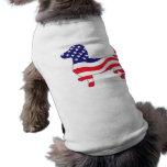 Patriotic Dachshund / Wiener Sleeveless Dog Shirt