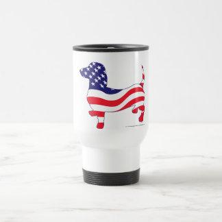 Patriotic Dachshund / Wiener Stainless Steel Travel Mug