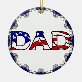 Patriotic Dad Christmas Ornament