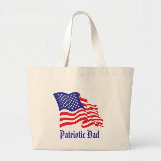 Patriotic Dad Father's Day Canvas Bag