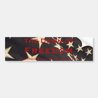 "Patriotic ""Dawn of Freedom"" Bumper Sticker"