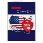 Patriotic Design National Doctors' Day Cards