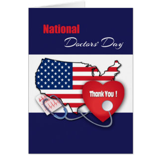 Patriotic Design National Doctors' Day Cards