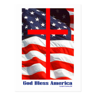 "Patriotic Designs - ""Bless America"" Postcard"