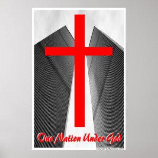 """Patriotic Designs - """"One Nation Under God"""" Poster"""