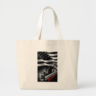 "Patriotic Designs - ""USA Freedom Motorcycle"" Jumbo Tote Bag"