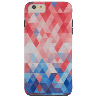 Patriotic Diamond Spectrum Pattern Tough iPhone 6 Plus Case