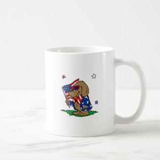 Patriotic Dog (2) Basic White Mug