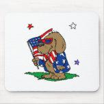 Patriotic Dog (2) Mousepads