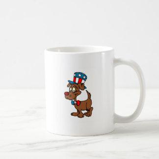 Patriotic Dog Basic White Mug