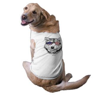 Patriotic Dog Sleeveless Dog Shirt