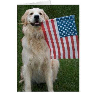Patriotic Dog Greeting Cards