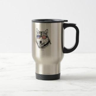 Patriotic Dog Stainless Steel Travel Mug