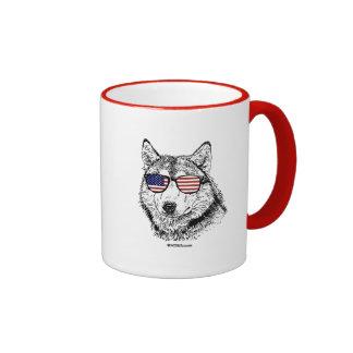 Patriotic Dog Ringer Mug