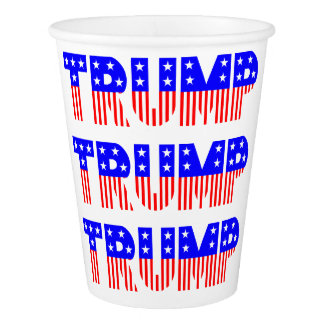 Patriotic Donald Trump Election Party Paper Cups