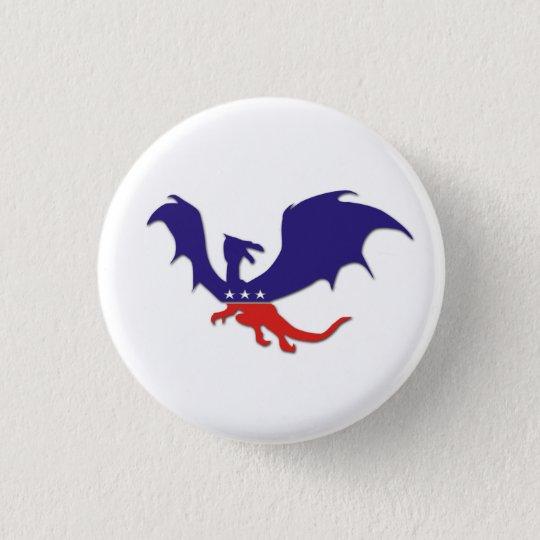 Patriotic Dragon Button