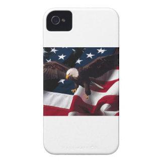 Patriotic Eagle American Flag iPhone 4 Case