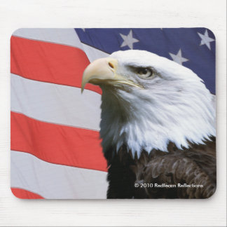 Patriotic Eagle-American Flag Mouse Pad