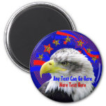 Patriotic Eagle And Gold Stars Magnet