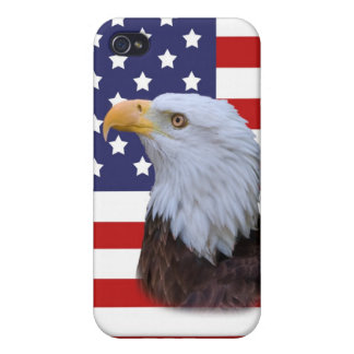 Patriotic Eagle and US Flag iPhone 4 Covers