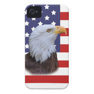 Patriotic Eagle and USA Flag iPhone 4 Cover