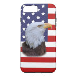 Patriotic  Eagle and USA Flag  Customisable iPhone 7 Plus Case
