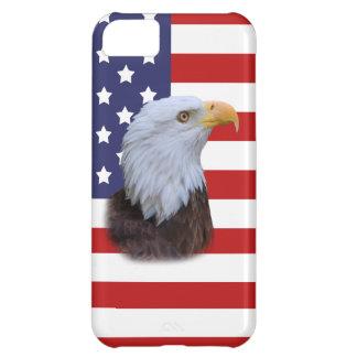 Patriotic  Eagle and USA Flag  Customizable iPhone 5C Case
