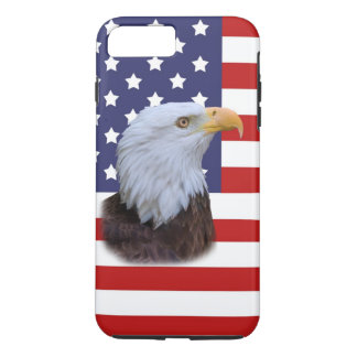 Patriotic  Eagle and USA Flag  Customizable iPhone 8 Plus/7 Plus Case