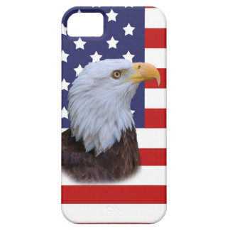 Patriotic  Eagle and USA Flag iPhone 5 Cover