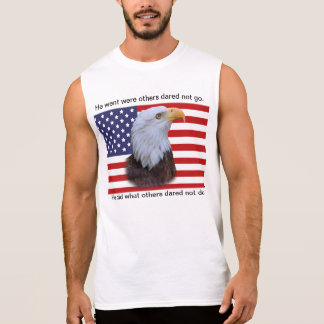 Patriotic  Eagle and USA Flag Sleeveless Shirt