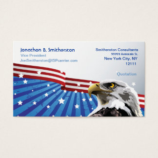 Patriotic Eagle Business Card