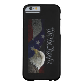 Patriotic Eagle & Flag Barely There iPhone 6 Case