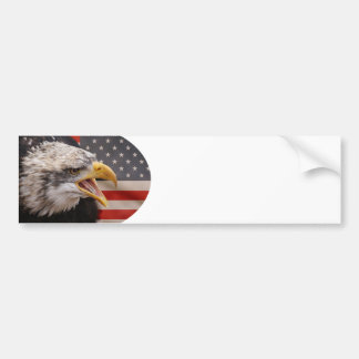 Patriotic Eagle Image Bumper Sticker