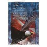 Patriotic Eagle in Flight Greeting Card