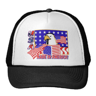 PATRIOTIC EAGLE - MADE IN AMERICA TRUCKER HATS