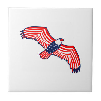 Patriotic Eagle Small Square Tile