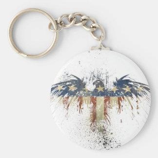 Patriotic eagle, US/USA, SAD flag Keychain