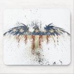Patriotic eagle, US/USA, SAD flag Mousepads
