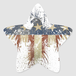 Patriotic eagle, US/USA, SAD flag Star Sticker