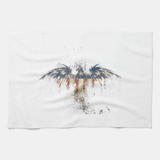 Patriotic eagle, US/USA, SAD flag Tea Towel