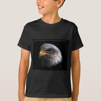 Patriotic Eagle with flag background T-Shirt
