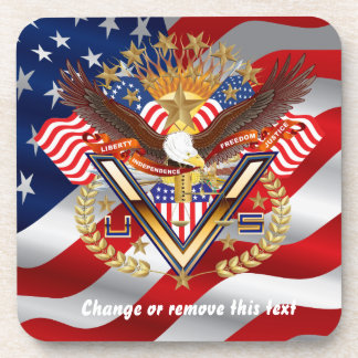 Patriotic Election View About Design Coaster