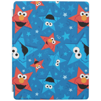 Patriotic Elmo and Cookie Monster Pattern iPad Cover