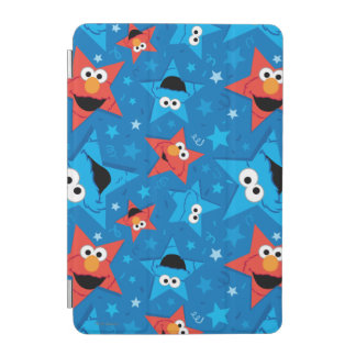 Patriotic Elmo and Cookie Monster Pattern iPad Mini Cover
