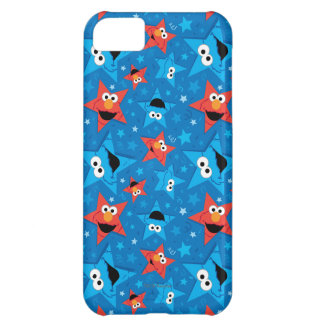 Patriotic Elmo and Cookie Monster Pattern iPhone 5C Case