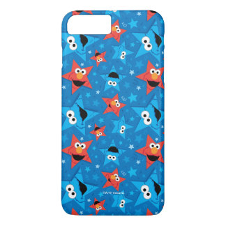Patriotic Elmo and Cookie Monster Pattern iPhone 8 Plus/7 Plus Case
