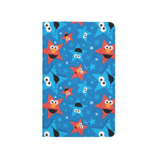 Patriotic Elmo and Cookie Monster Pattern Journal